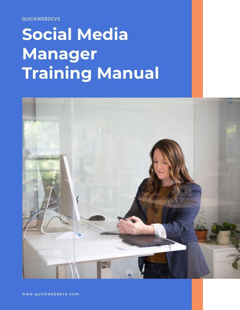Social Media Manager Training Manual Template