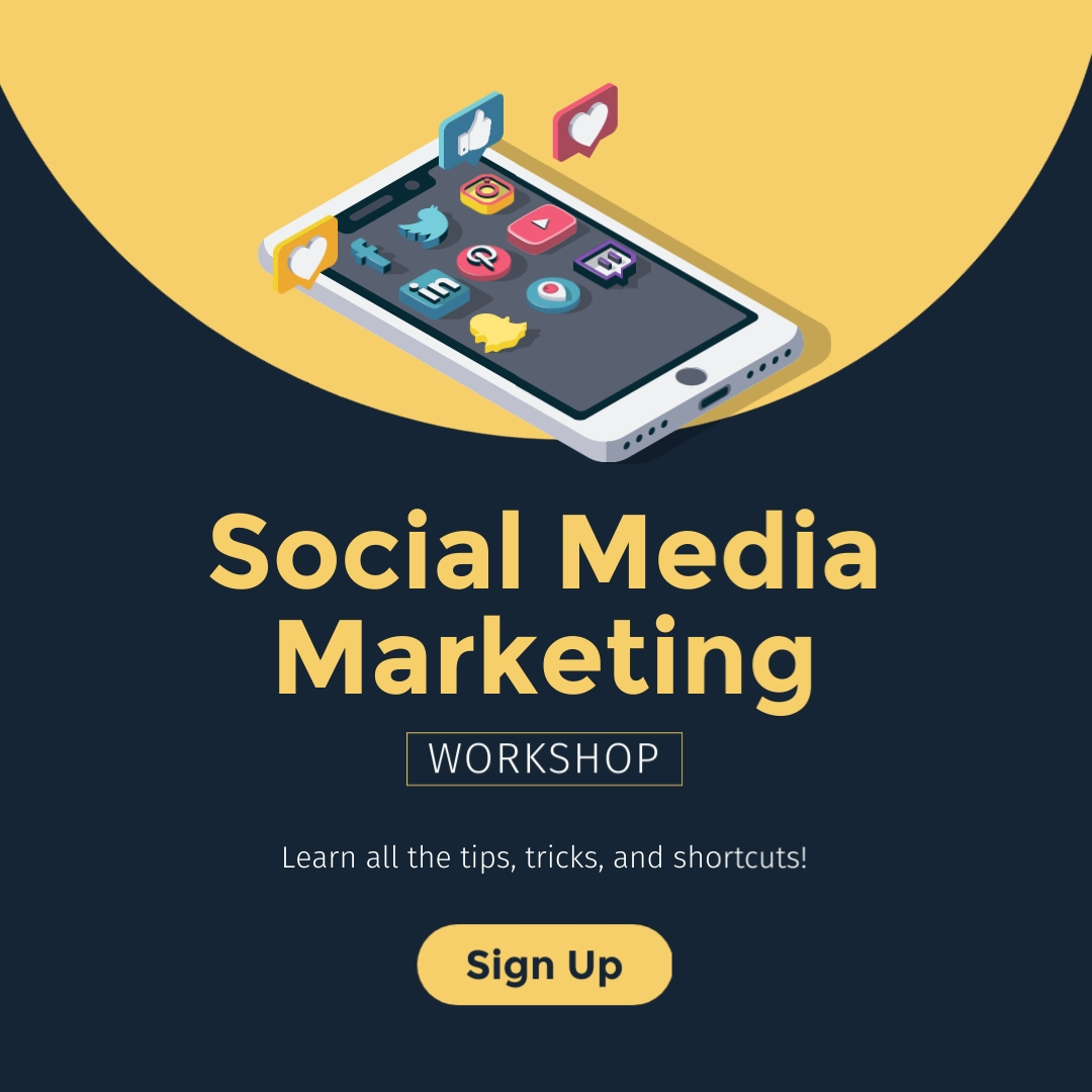 Social Media Mktg Square Template