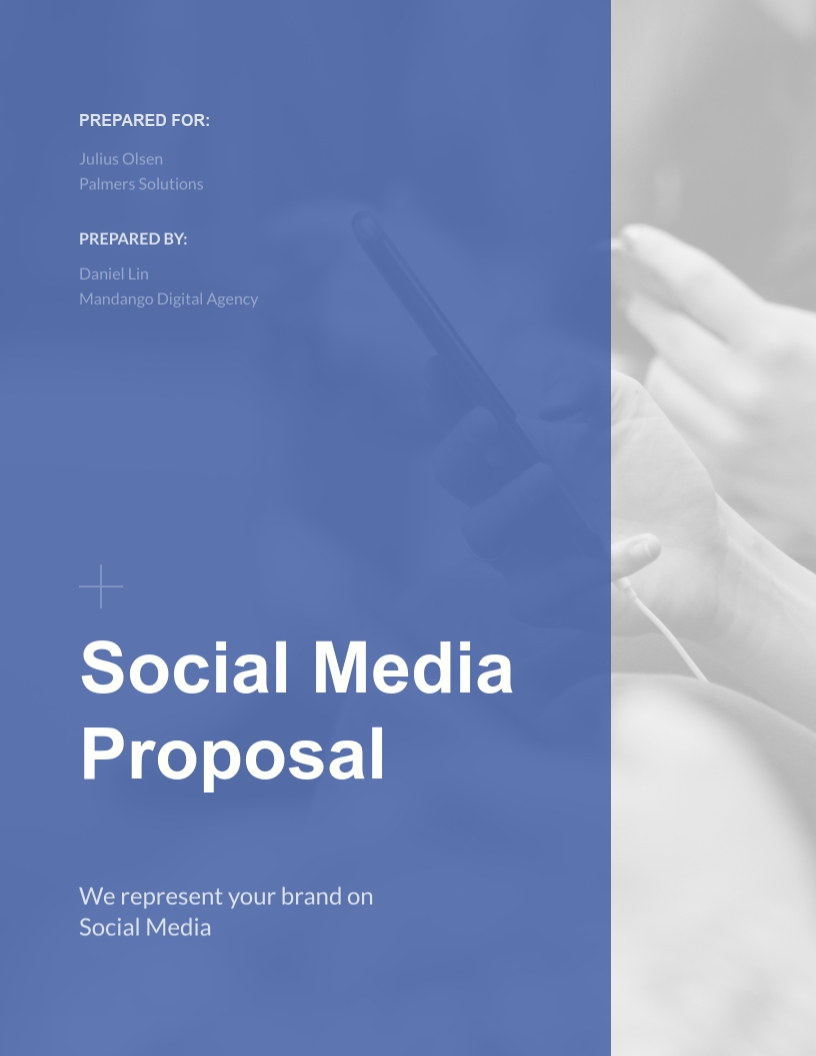 Social Media Proposal Template Visme