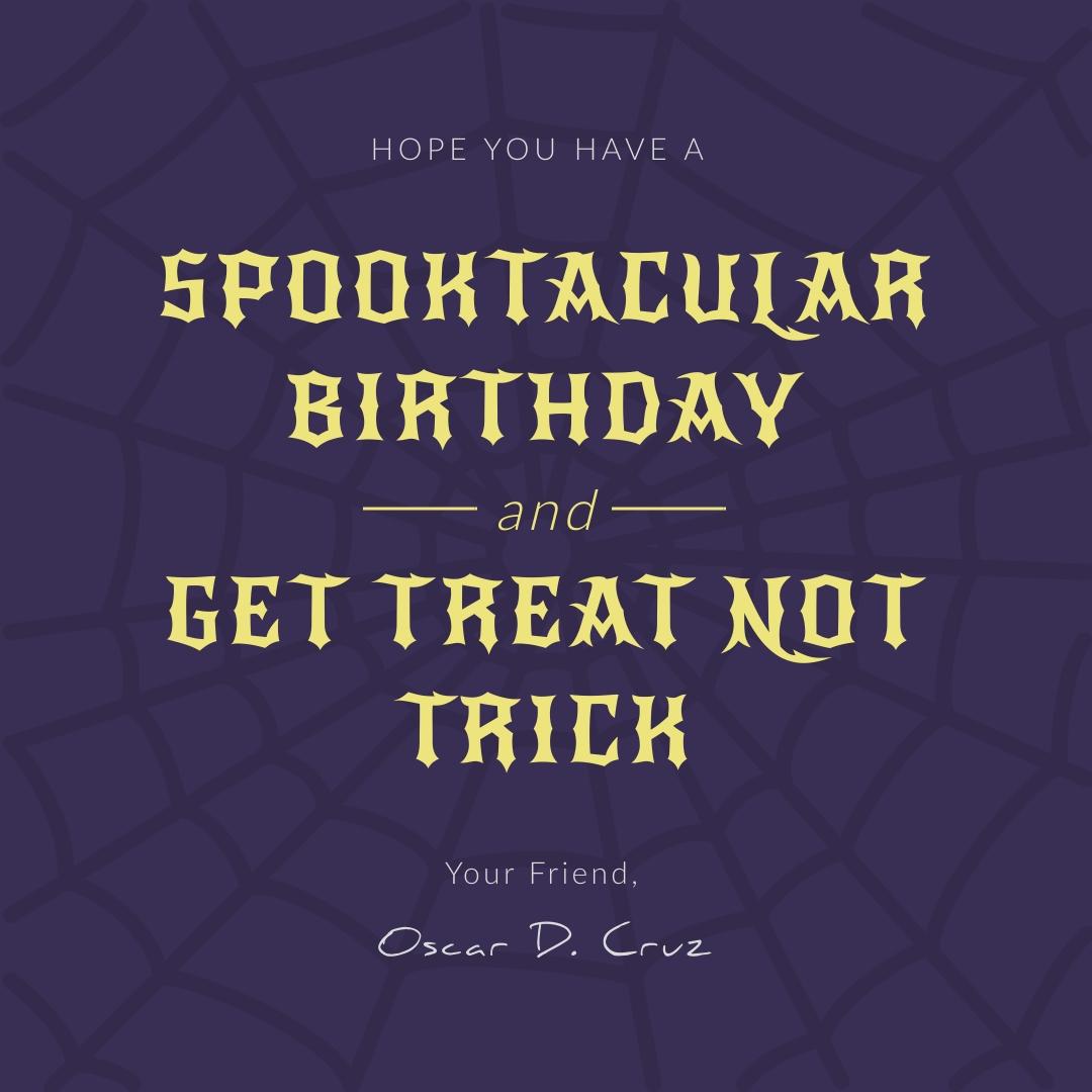Spooktacular Birthday Instagram Post Template
