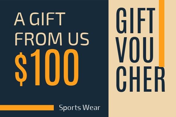 Sports Wear - Gift Certificate Template