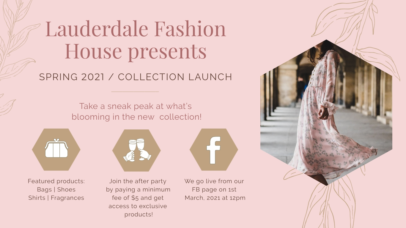 Spring Collection Launch Facebook Event Cover Template