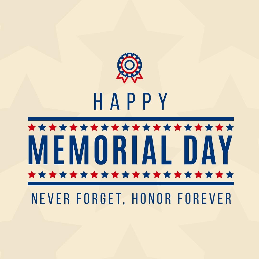 Star Banner Memorial Day - Instagram Post Template