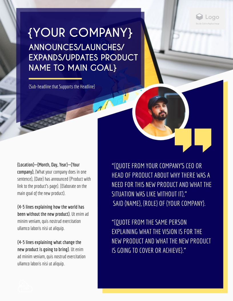 Startup - Press Release Template