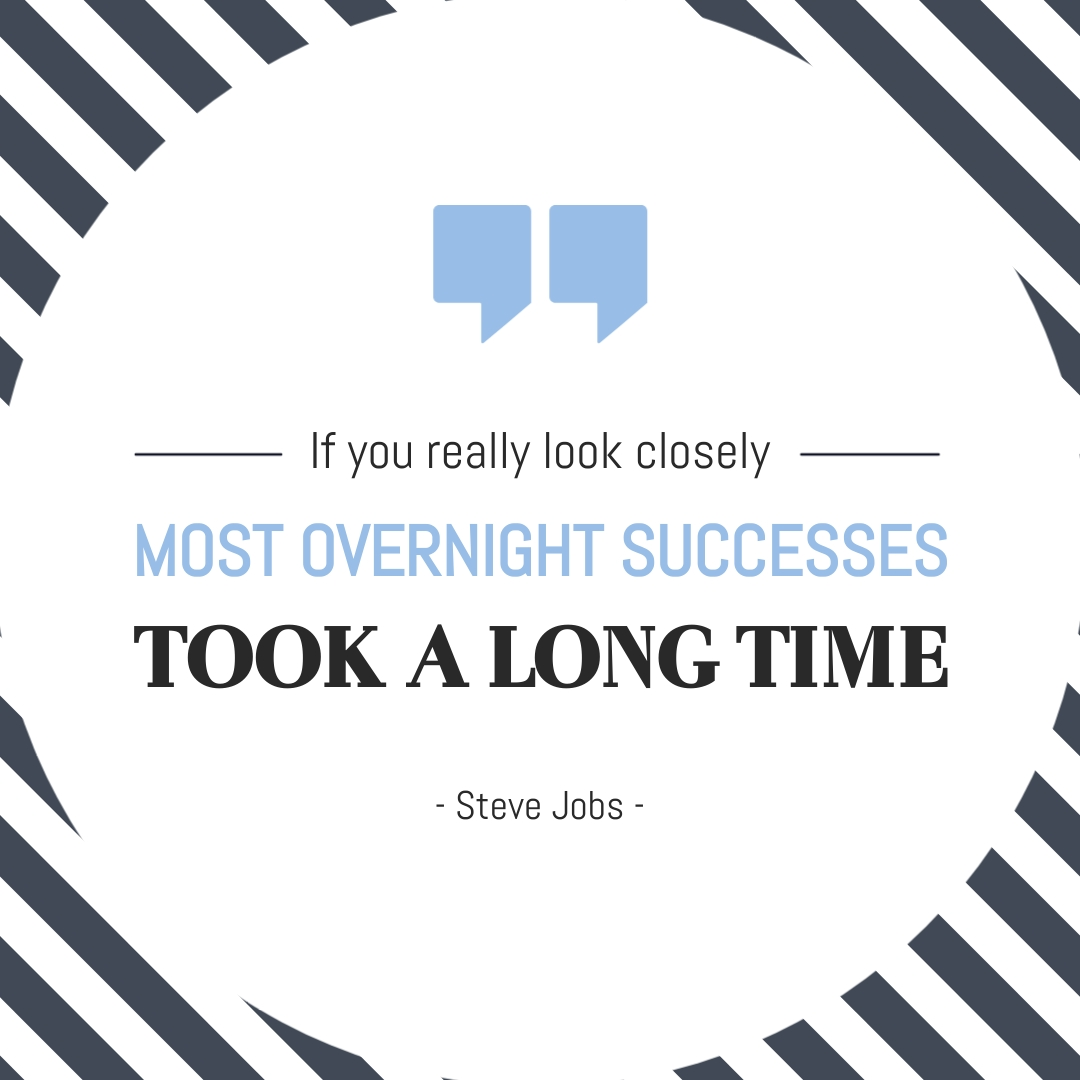 Steve Jobs Animated Quote Square Template