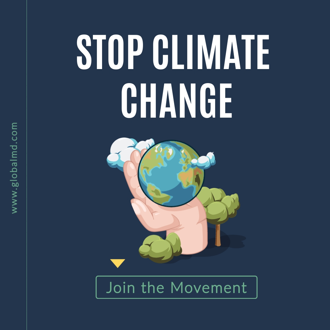 Stop Climate Change Square Template