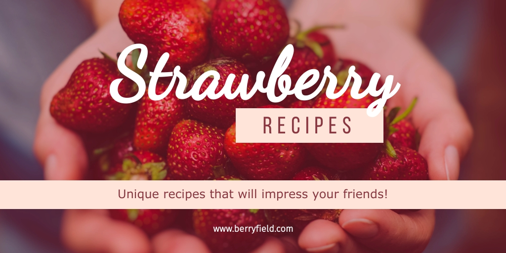 Strawberry Recipes Twitter Post  Template