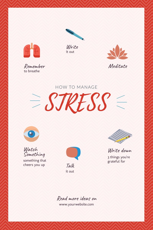 Stress Management Pinterest Post Template
