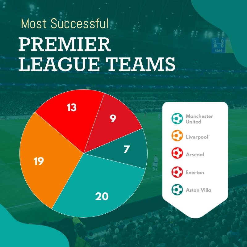 Successful Sports Teams Pie Chart Square Template