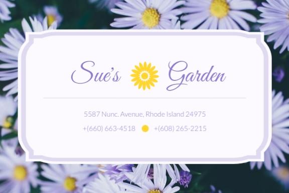 Sues Garden Label Template