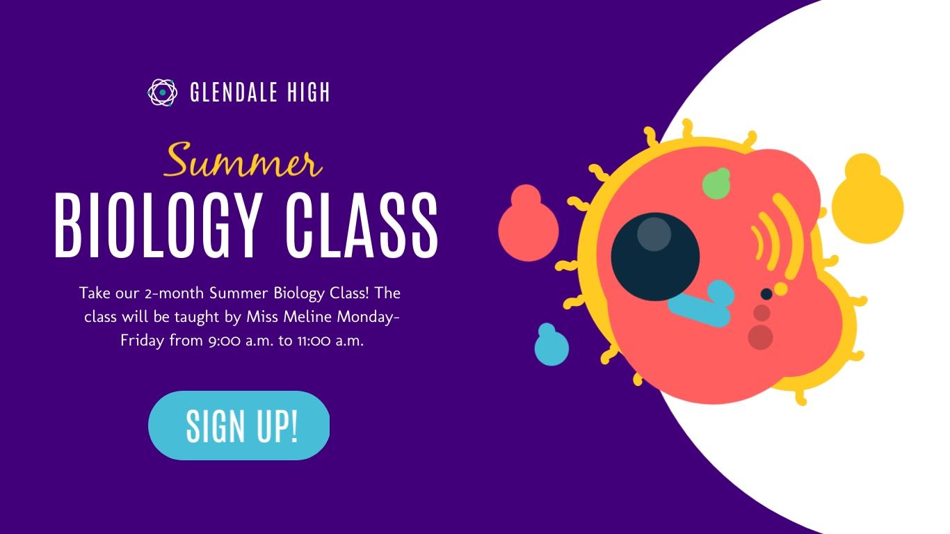 Summer Biology Class - Twitter Ad Template