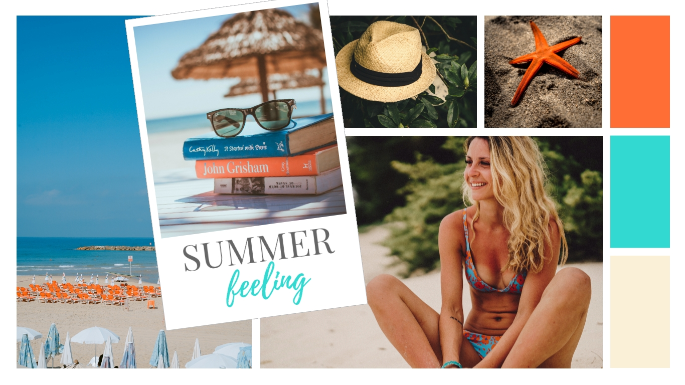 Summer Feeling Moodboard Template