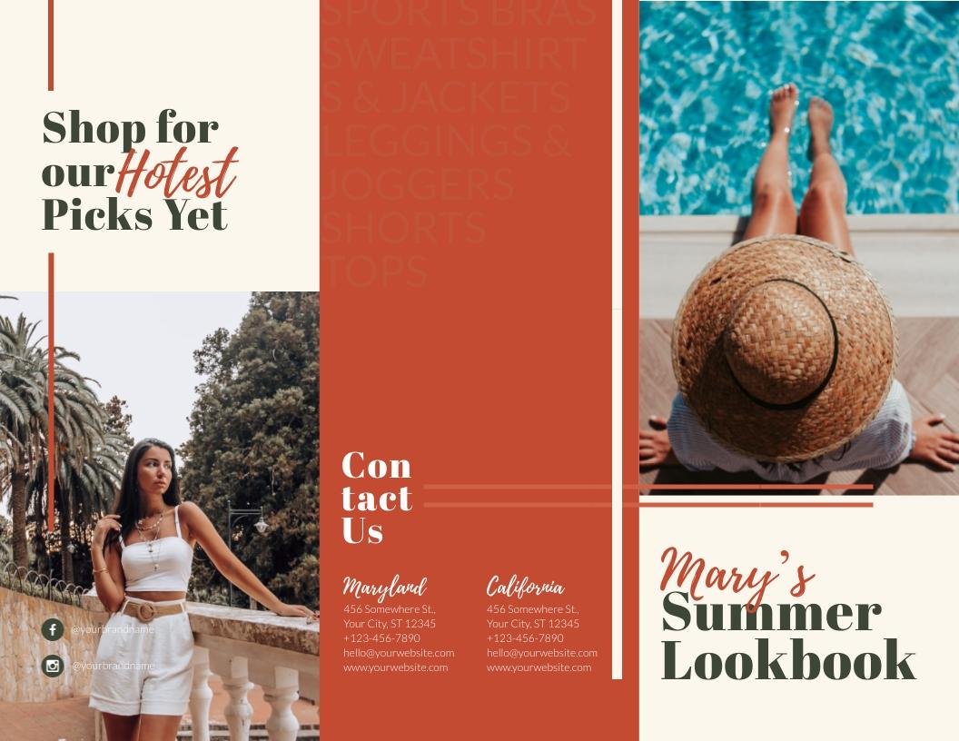 Summer Lookbook - Trifold Brochure Template