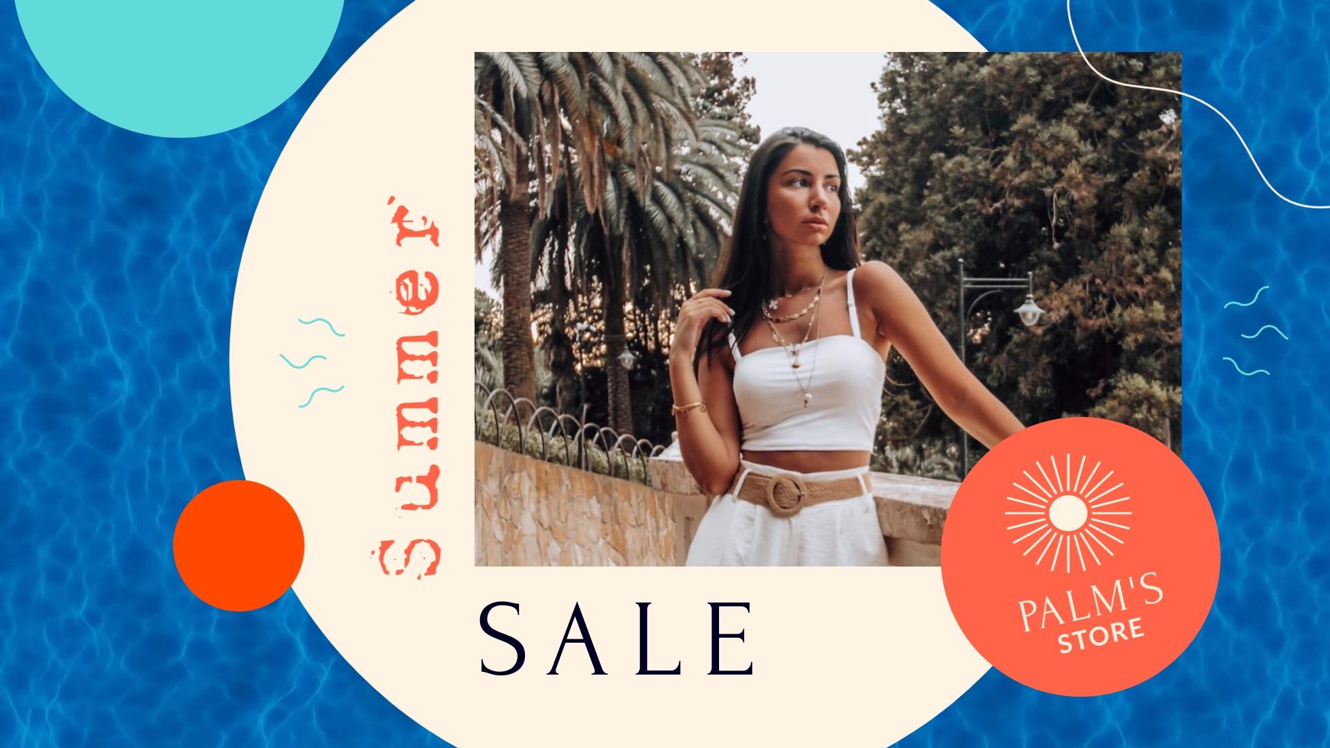 Summer Sale Facebook Video Ad Template