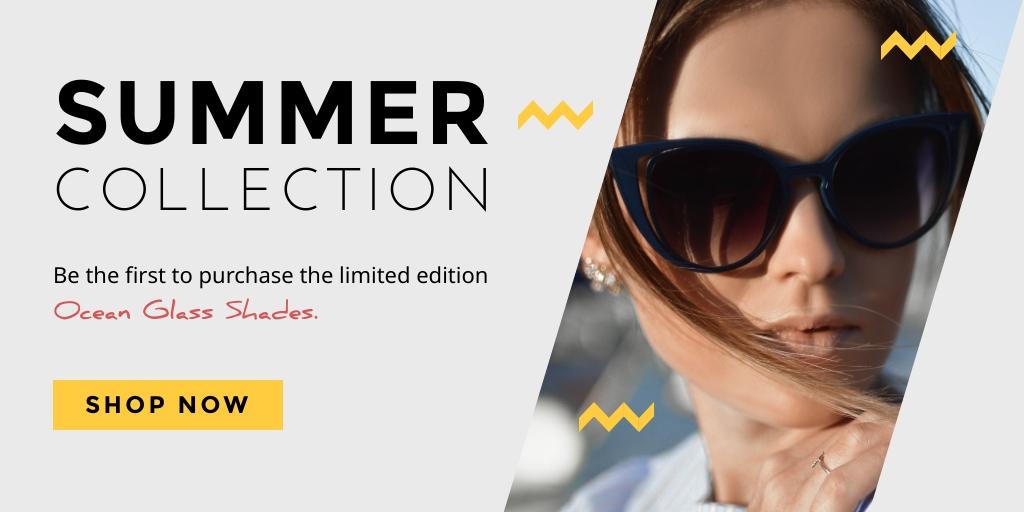 Summer Shades Twitter Post  Template
