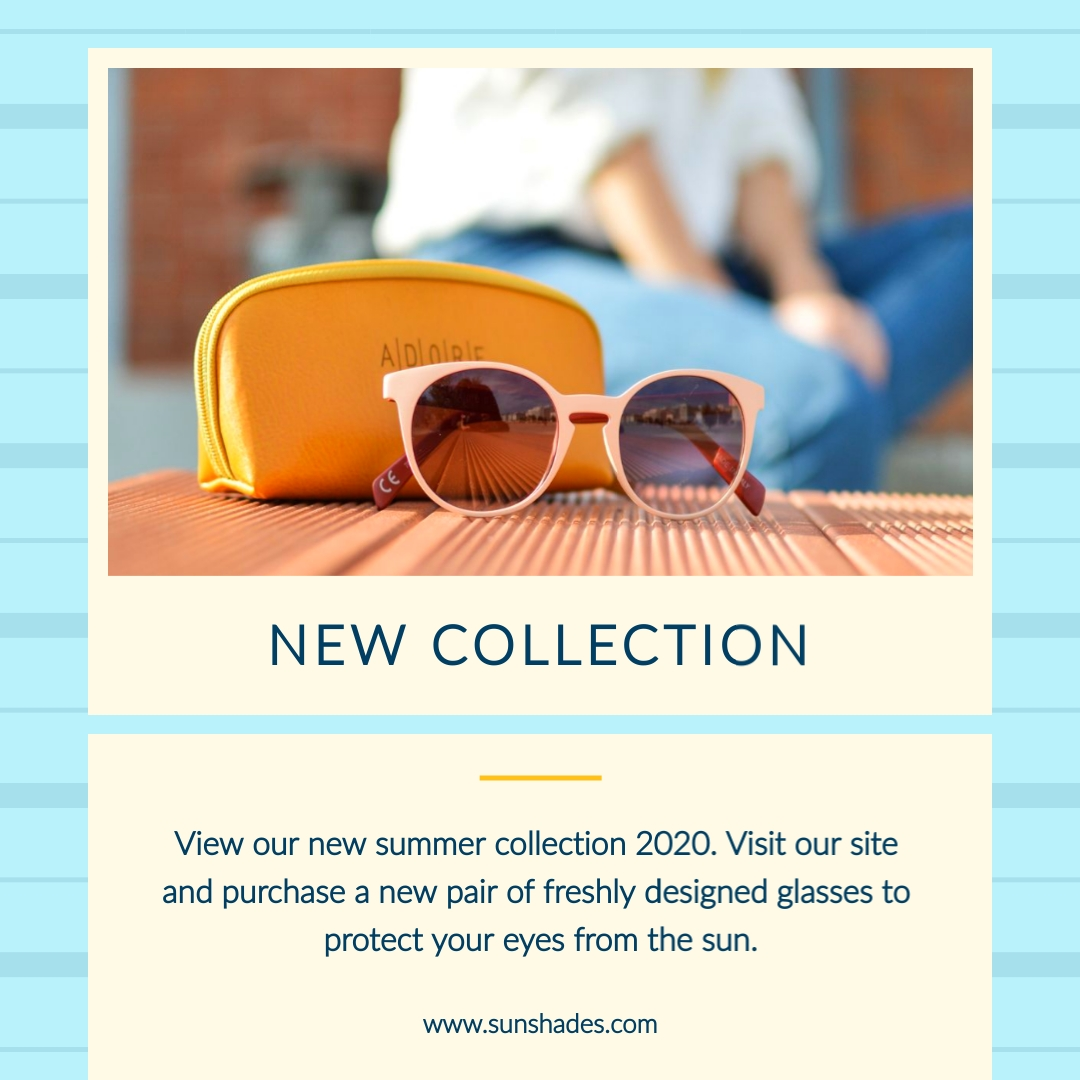Sun Glasses Summer Collection Animated Square Template