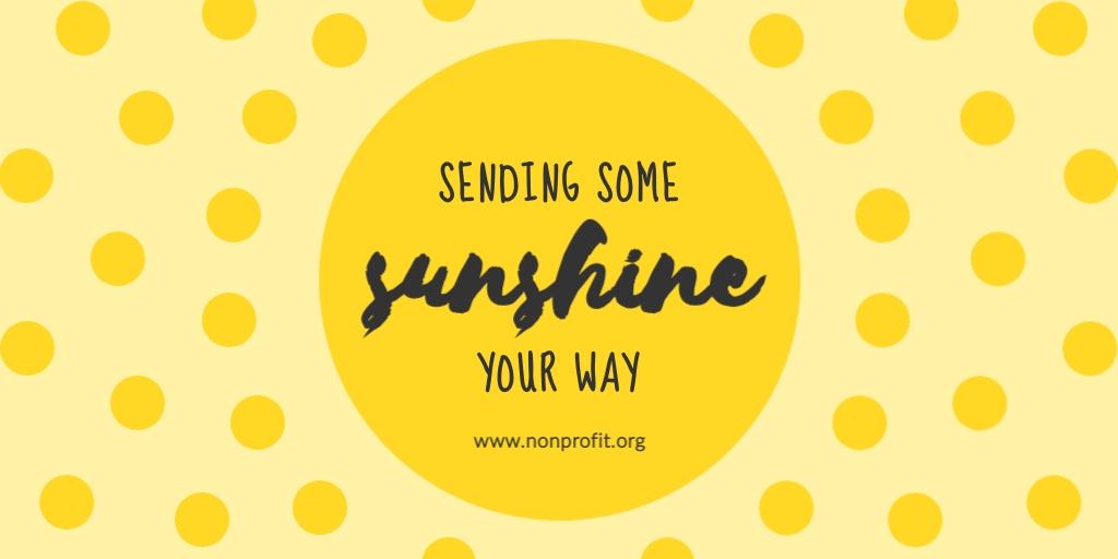 Sunshine Non Profit Twitter Post  Template