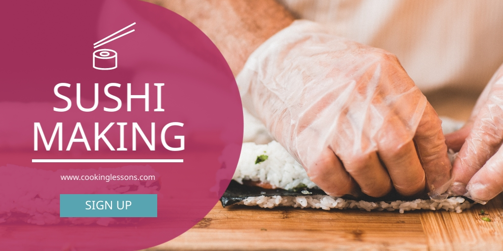 Sushi Making - Twitter Ad Template