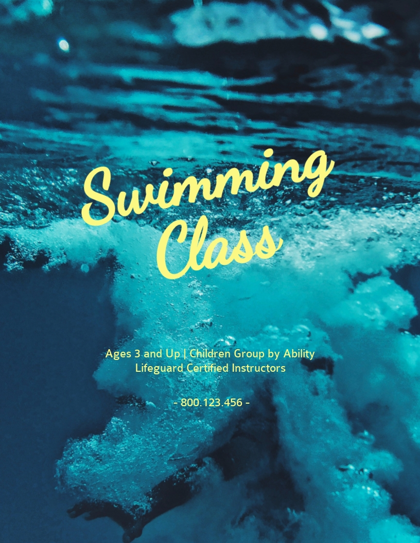 Swimming Class - Flyer Template