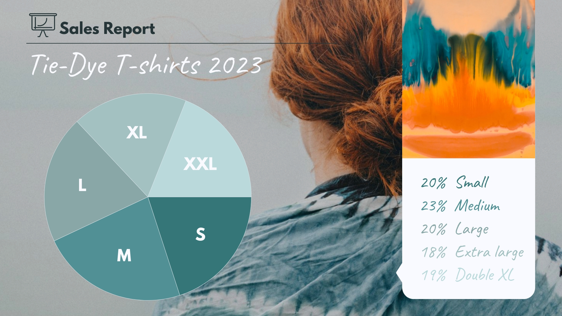 TShirt Sales Pie Chart Template