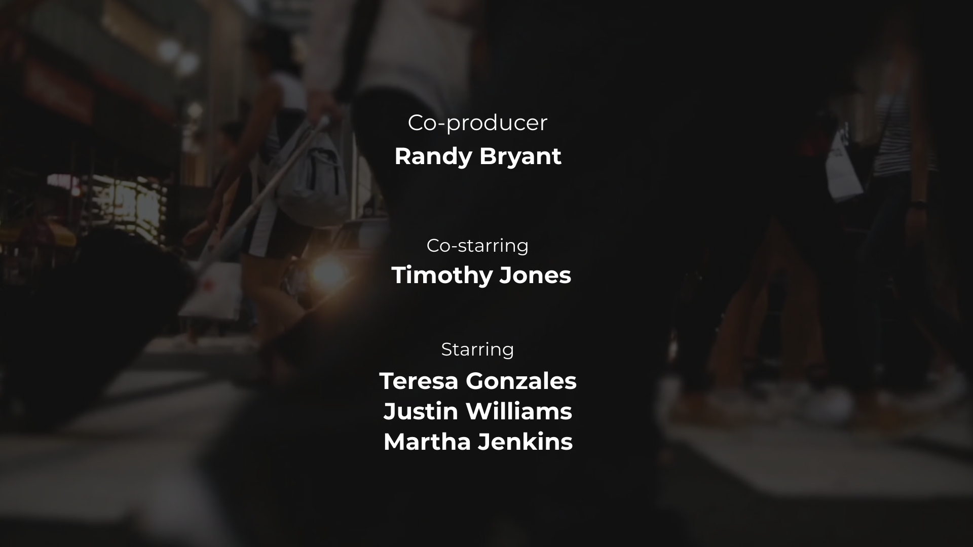 TV Series - Credits Video Template