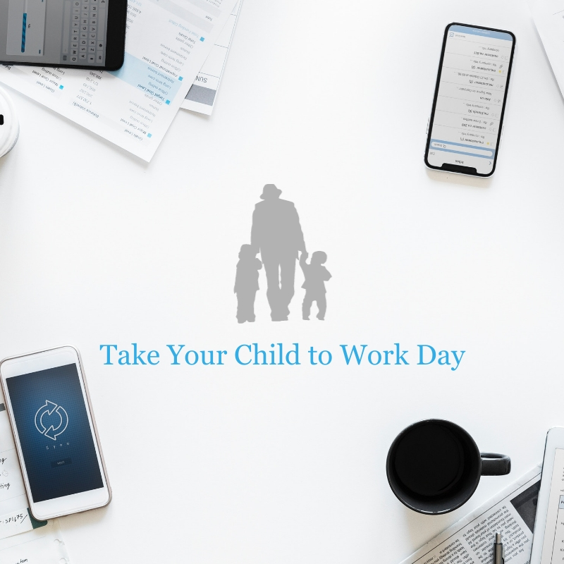 Take Your Child to Work Day Blog Graphic Medium Template