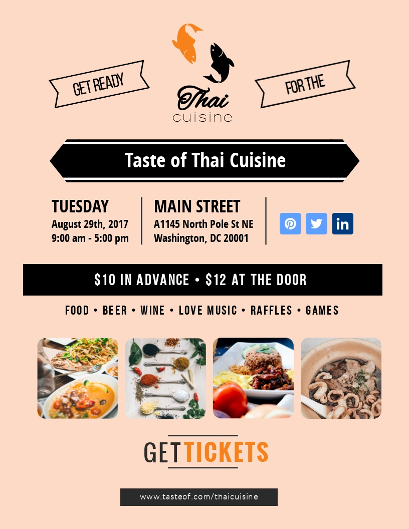 Taste of Thai Cuisine - Flyer Template