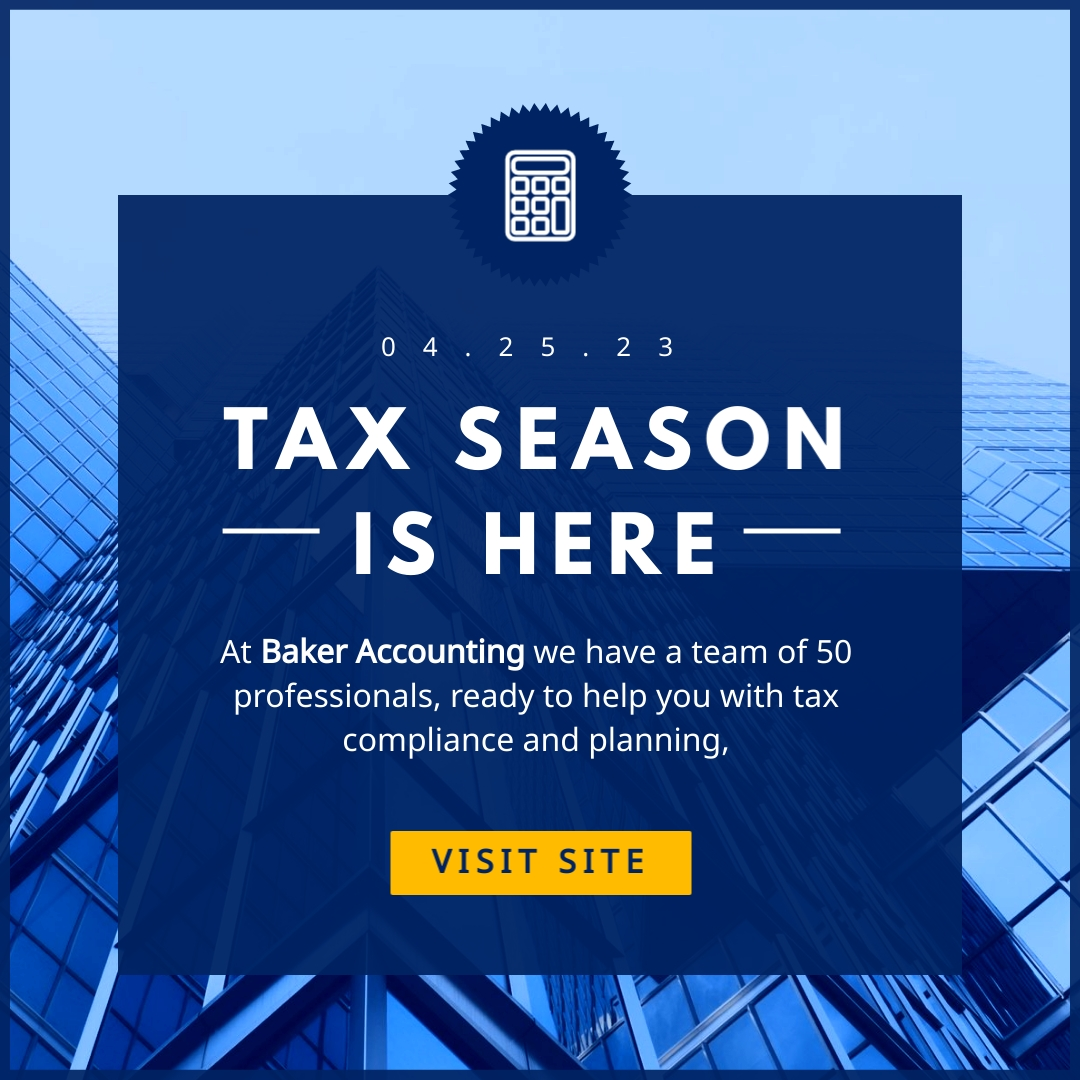Tax Season Animated Square  Template