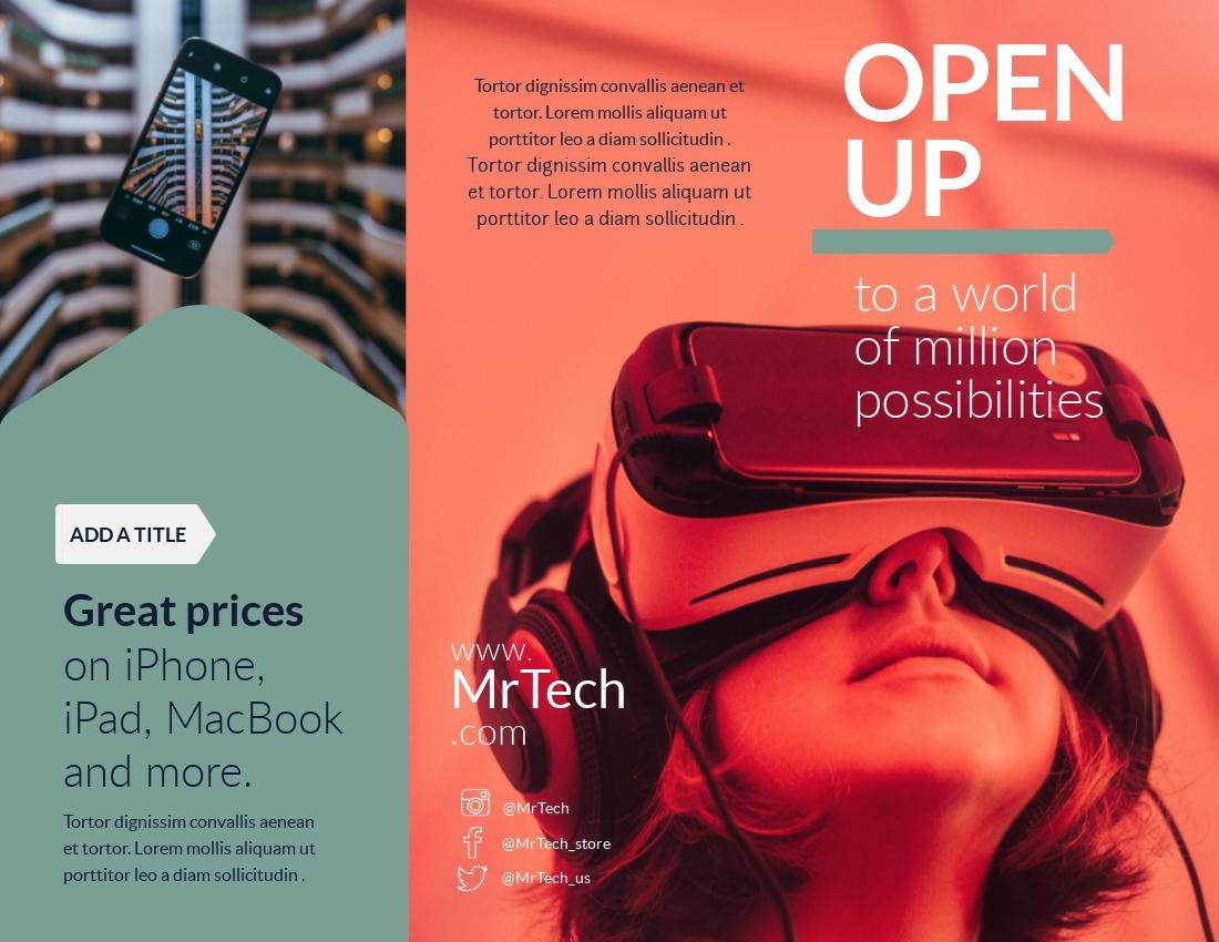 Tech - Trifold Brochure Template
