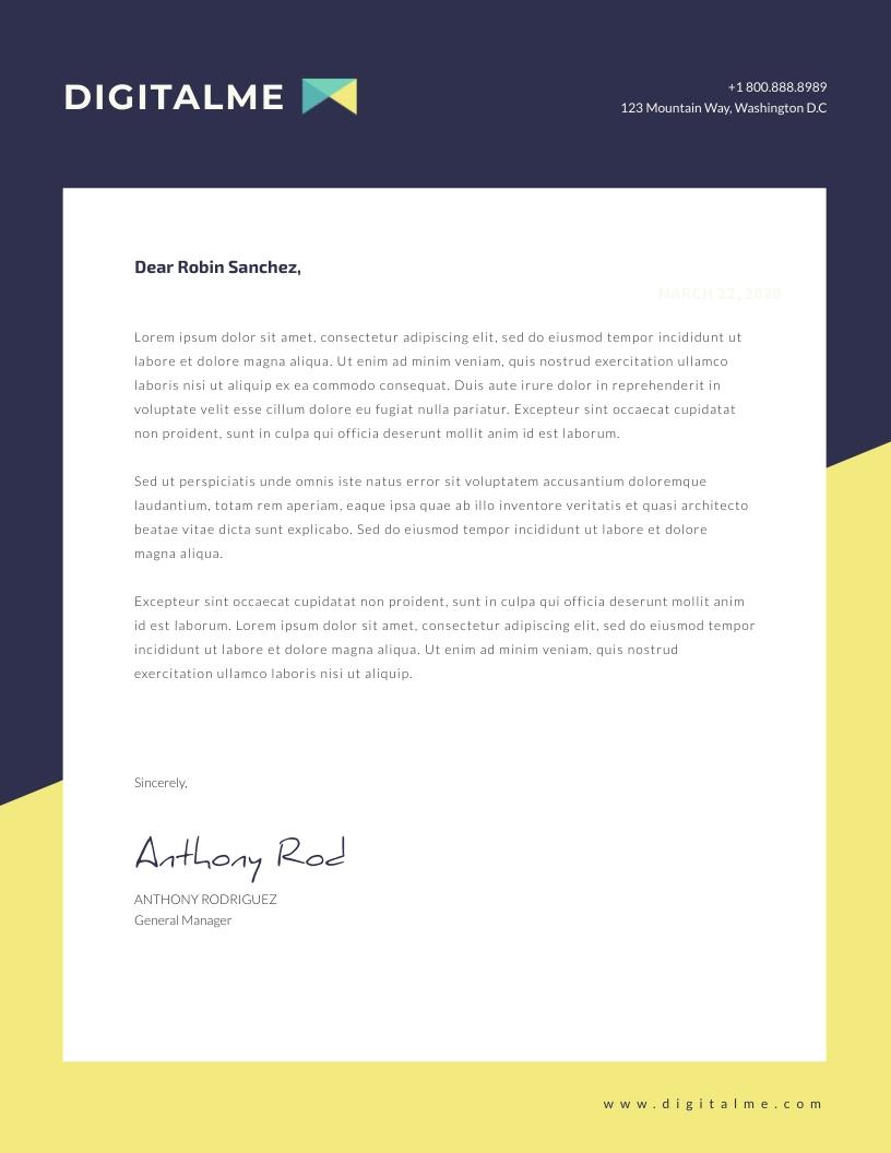 Technology - Letterhead Template