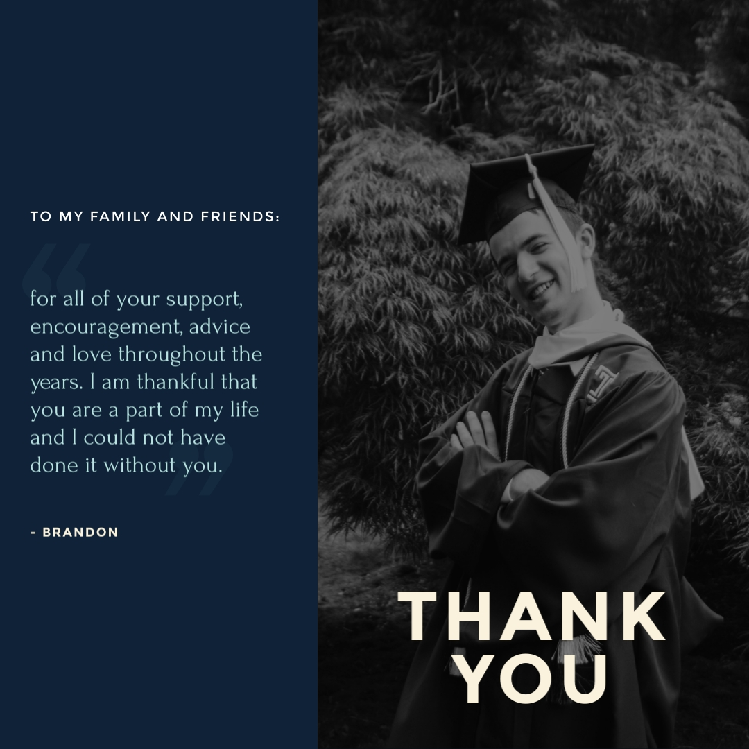 Thank You From Graduate Instagram Post Template