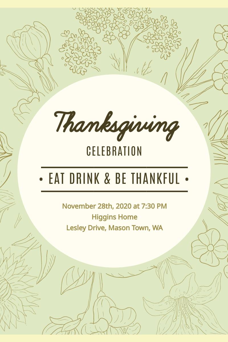 Thanksgiving Celebration Blog Graphic Large Template