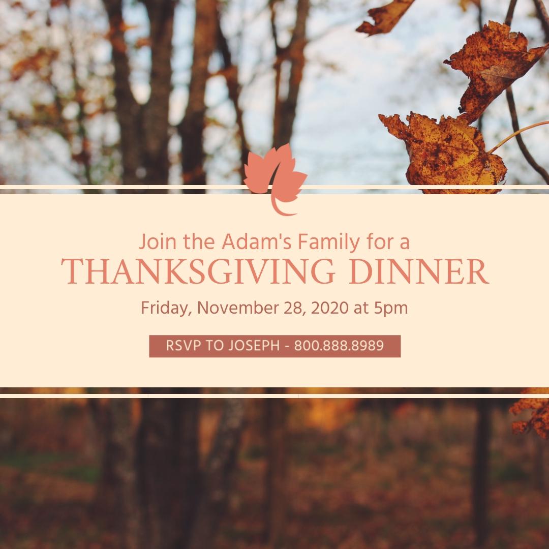 Thanksgiving Dinner Blog Graphic Medium Template