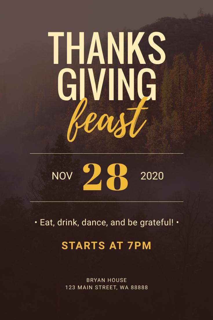 Thanksgiving Feast Pinterest Post Template