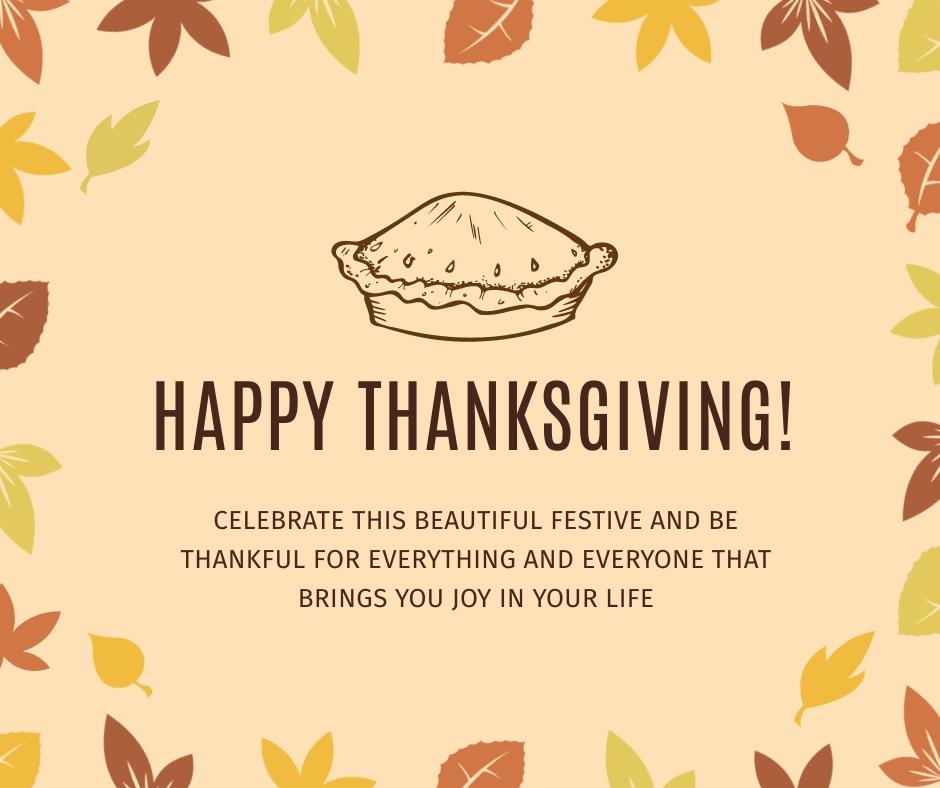 Thanksgiving Festive Facebook Post Template