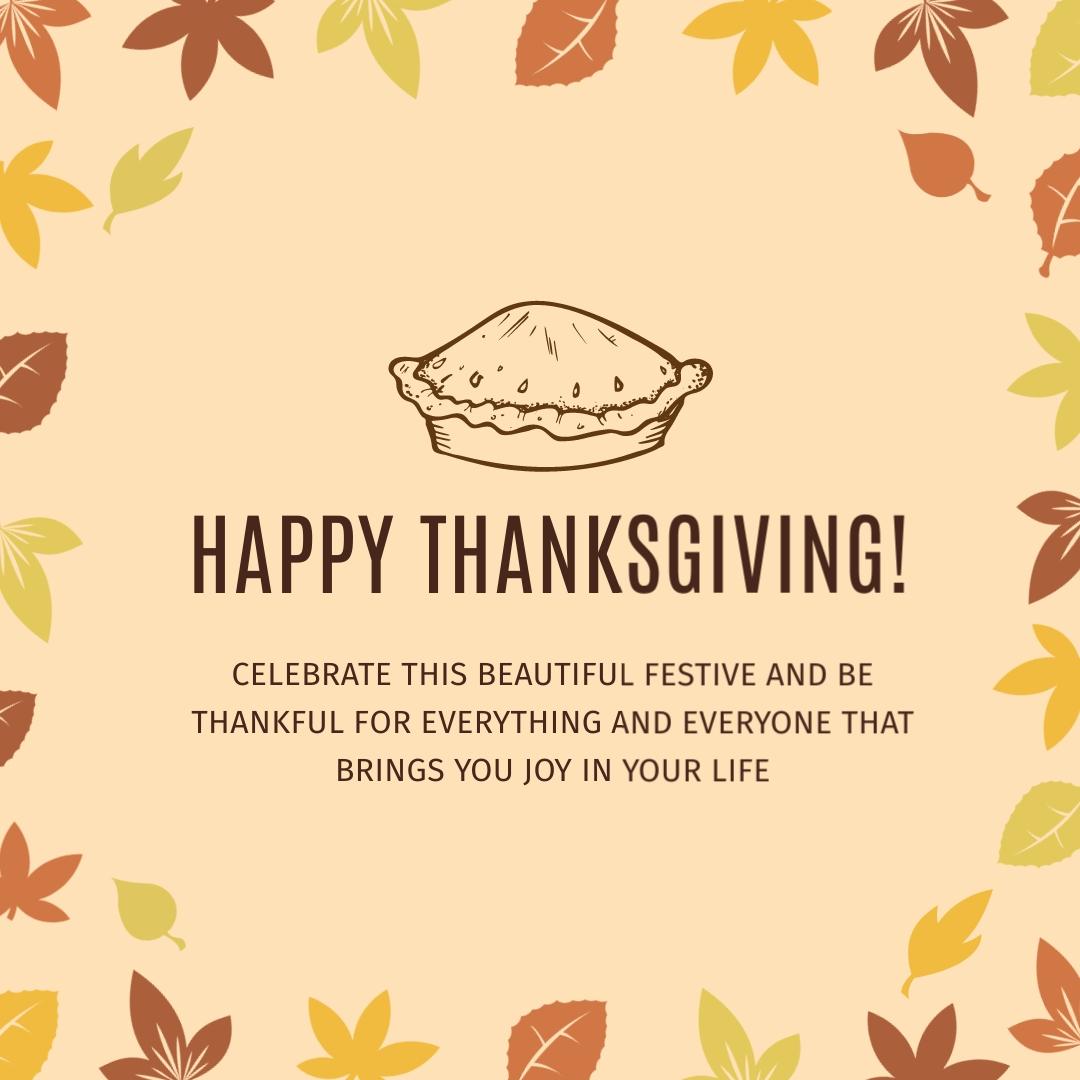 Thanksgiving Festive Instagram Post Template