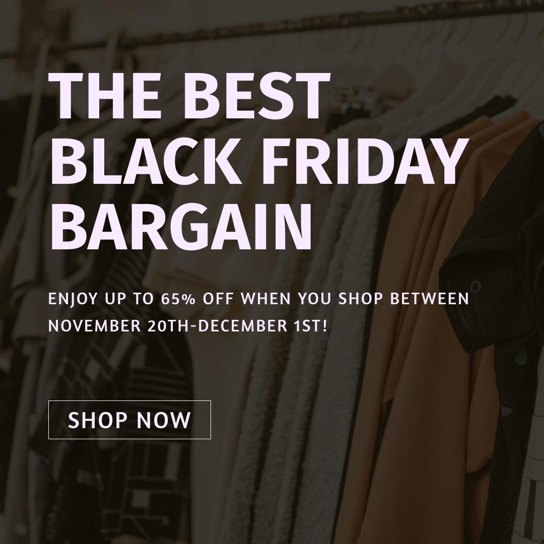The Best Black Friday Bargain Blog Graphic Medium Template
