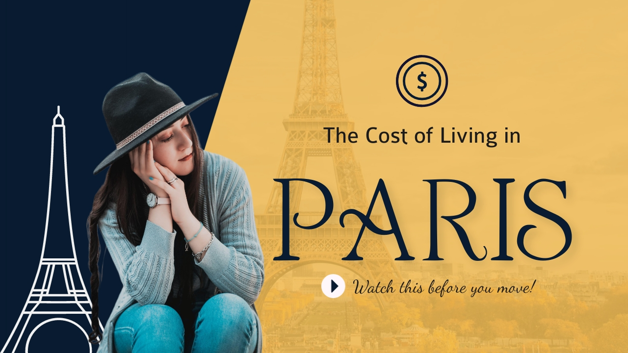 The Cost of Living in Paris Youtube Thumbnail Template