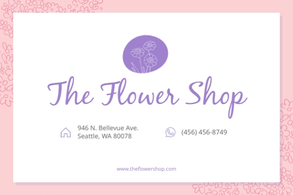The Flower Shop Address Label Template