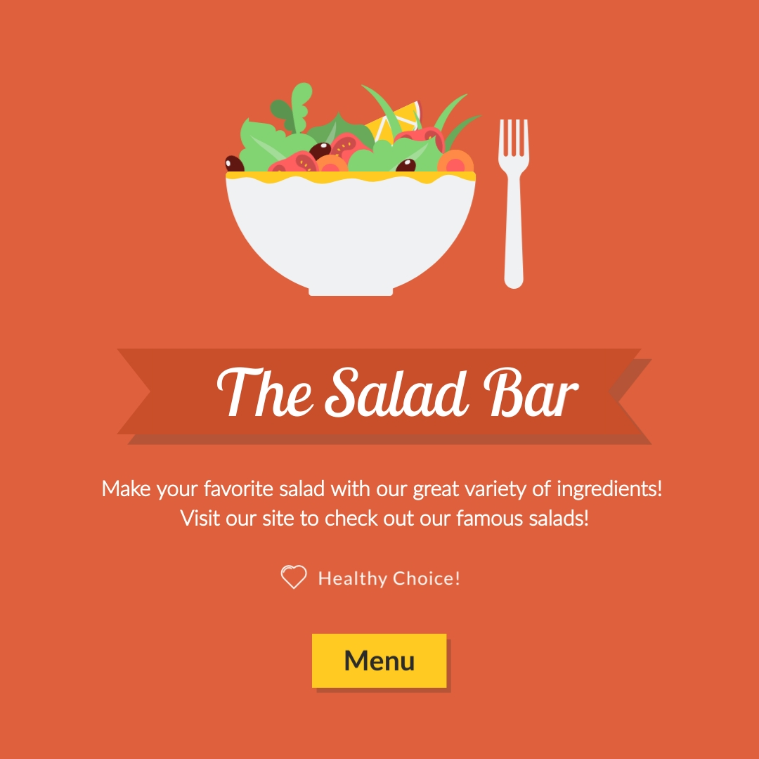 The Salad Bar Instagram Post Template