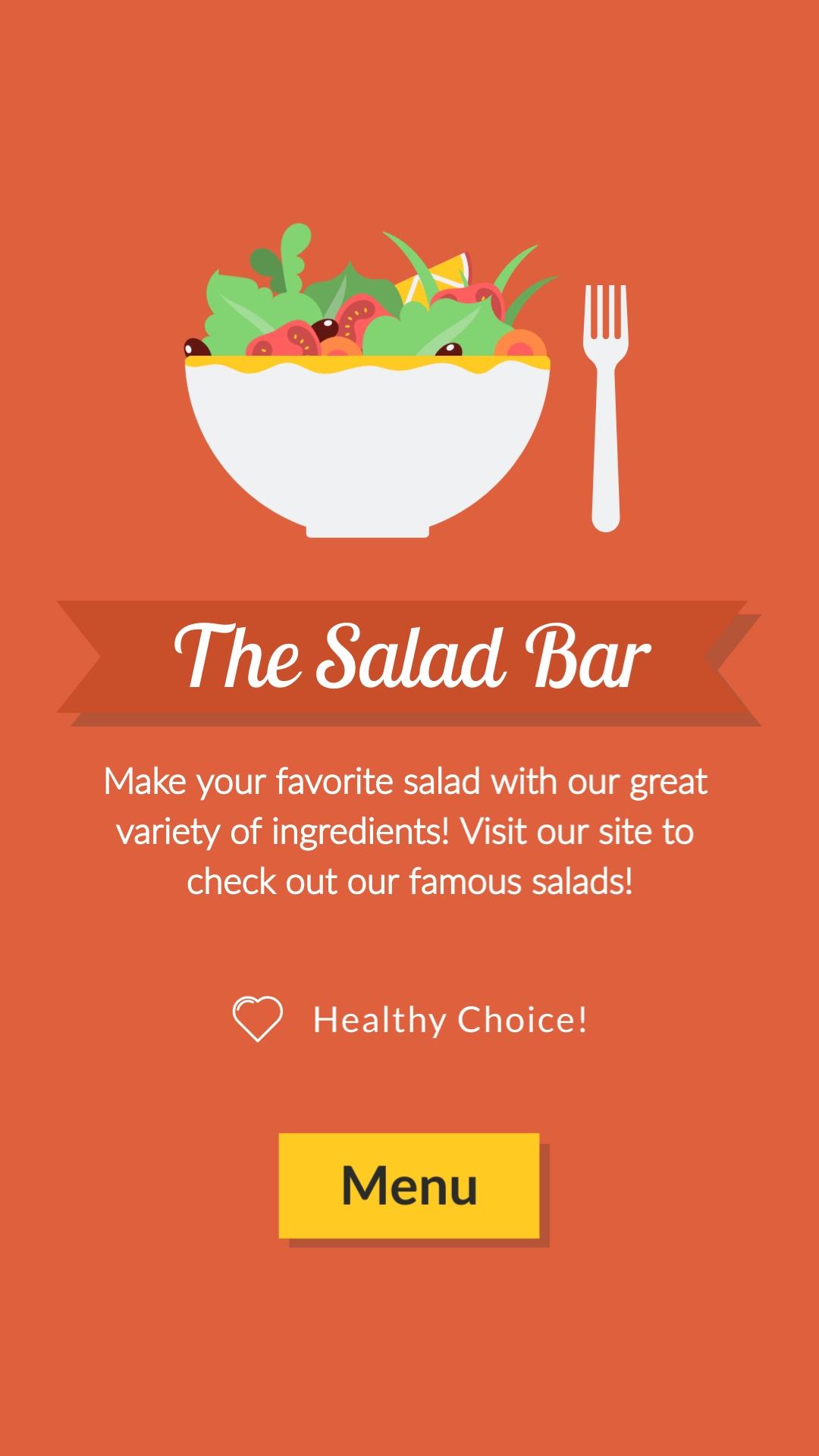 The Salad Bar Vertical Template