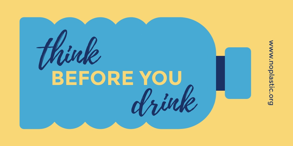 Think Before You Drink Twitter Post  Template