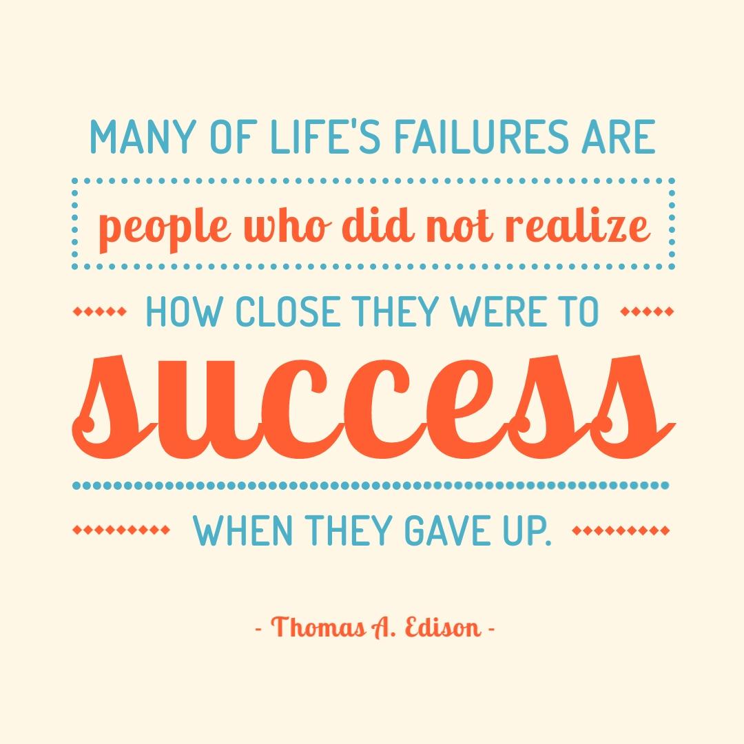 Thomas Edison Quote Instagram Post Template
