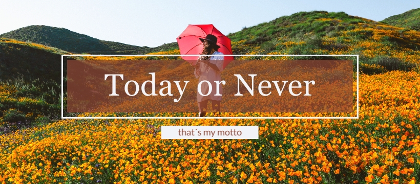 Today or Never Facebook Page Template