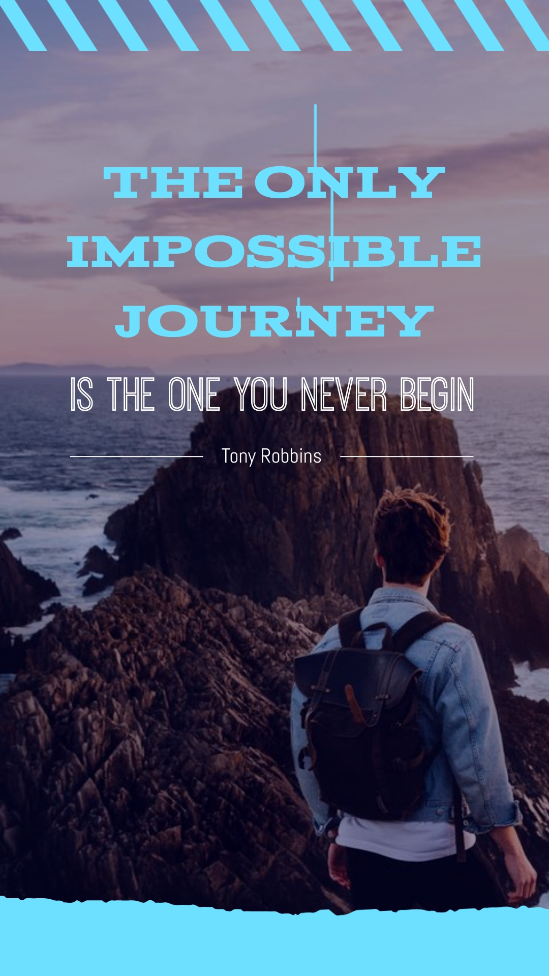 Tony Robbins Animated Quote Vertical Template