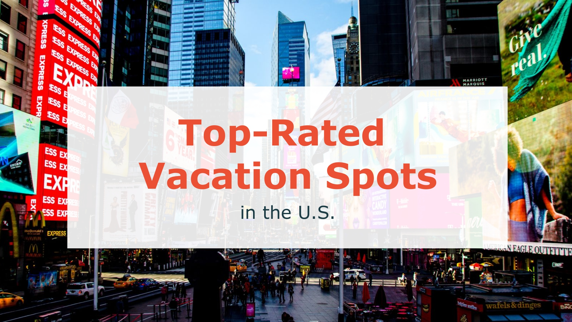 Top-Rated Vacation Spots in the U.S - Listicle Video Template