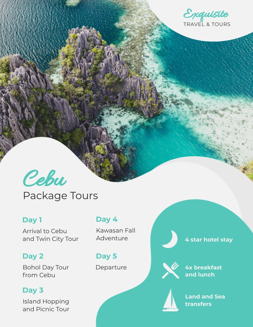 Tourism Itinerary Template