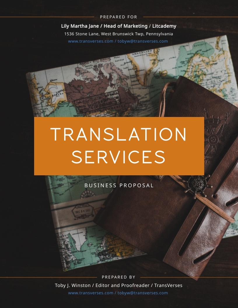 Translation Services - Proposal Template