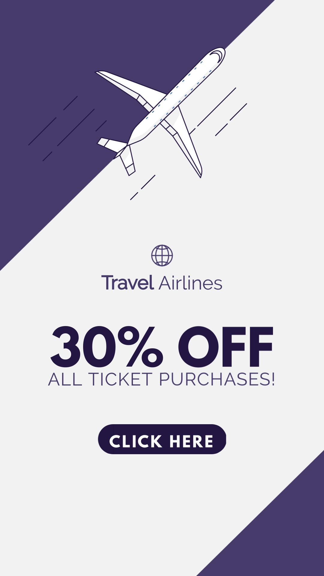 Travel Airlines Vertical Template