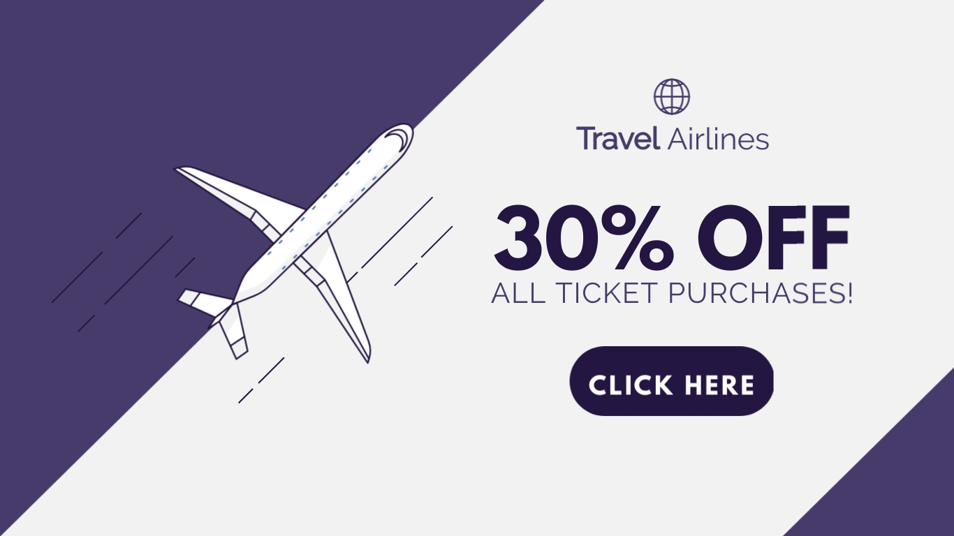 Travel Airlines - Twitter Ad Template